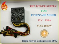 BTC LTC Miners For Power Ultra Small Size 1400W 12V 114A Output Including 10 PCS 6PIN