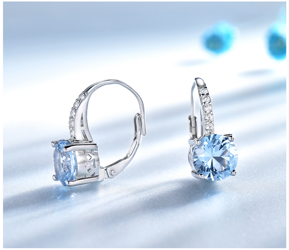 silver gemstone topaz earrings for women  (4)