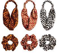 Fashion Women Hair Accessories Fabric Bandanas Scrunchie Scarf Ponytail Holder