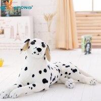 Bookfong 50 см Emulational Игрушка Плюшевые белая собака далматинец лежа осанка Искусственный животных 1 шт.