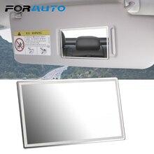FORAUTO автомобильное внутреннее зеркало портативное автомобильное зеркало для макияжа авто солнцезащитный козырек HD зеркала Универсальный Автомобильный Стайлинг из нержавеющей стали