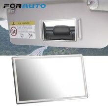 FORAUTO-Espejo portátil de acero inoxidable para el coche, visor universal HD perfecto para maquillaje, accesorio parasol ideal para el interior del vehículo