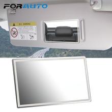 FORAUTO Car Interior Mirror Portable Car Makeup Mirror Auto Sun-Shading Visor HD Mirrors Universal Car-styling Stainless Steel