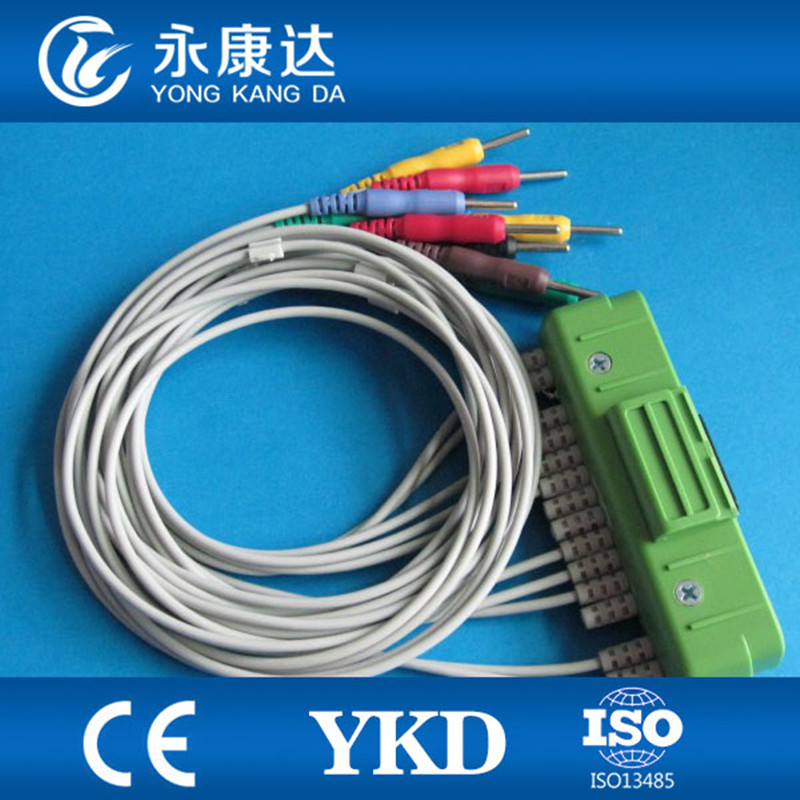Free shipping!! Top quality  Nihon Kohden ECG-9320/BR-911D EKG Cable with leadwires,Grabber plug