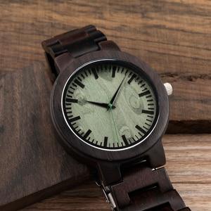 Image 4 - Bobobird c30 에보니 우드 시계 남성용 시계 브랜드 럭셔리 쿼츠 시계 선물 상자