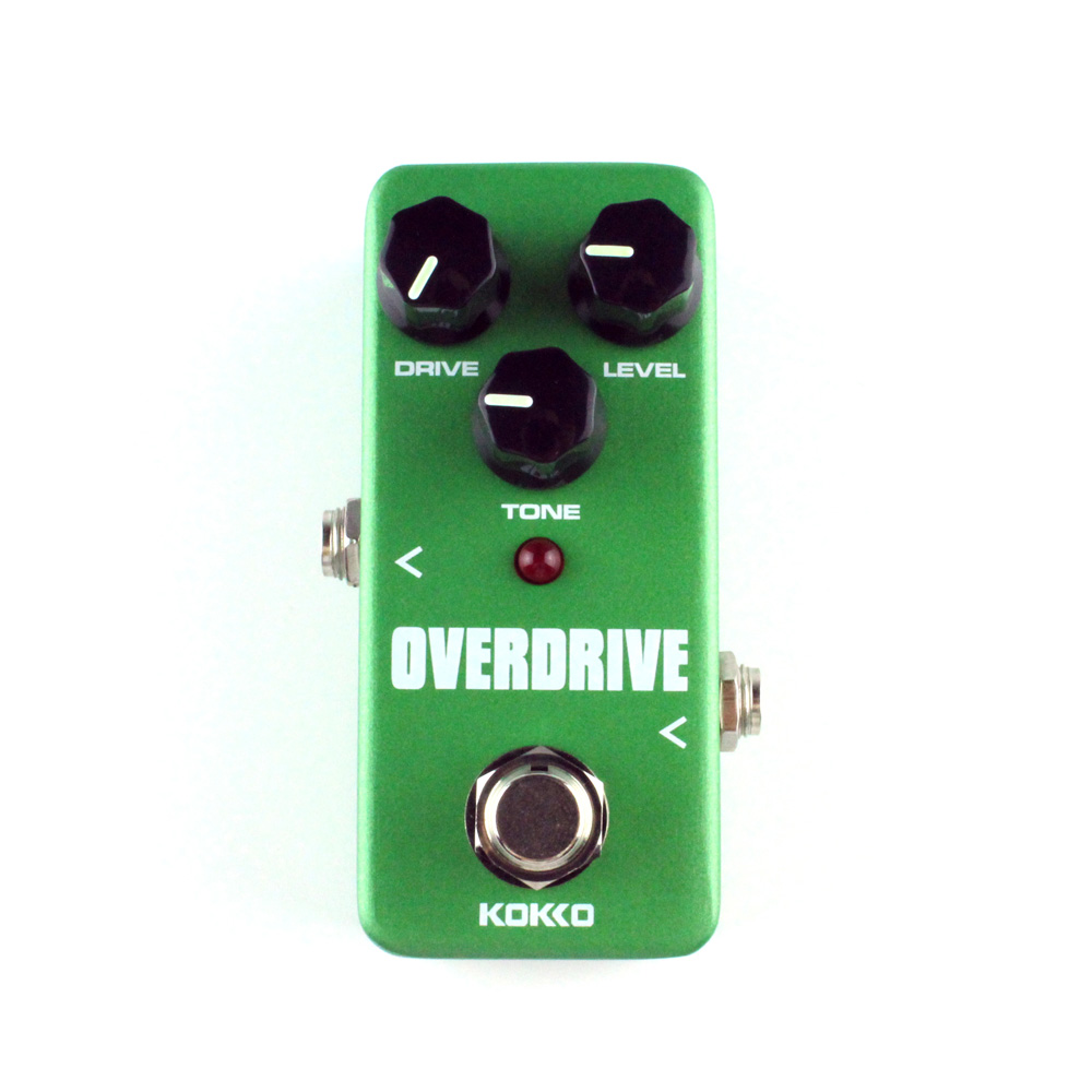 KOKKO Guitar Overdrive Pedal Portable Guitar Mini Effect Pedal FOD3 High Quality Guitar Parts & Accessories kokko frb2 mini space pedal portable guitar effect external ac adapter delivering 9v dc regulated guitar parts