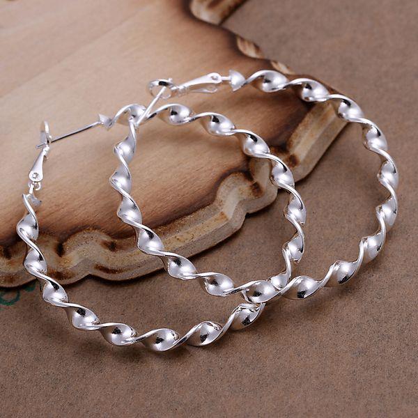 silver plated earrings fashion jewelry earrings beautiful earrings high quality Waves Line Earrings bt cp