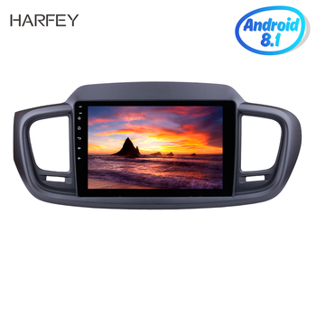 Harfey Head unit Android 8.1 Radio Car Multimedia Player For 2015 2016 KIA SORENTO GPS Navi with 10.1 3G WiFi Bluetooth USB SWC image
