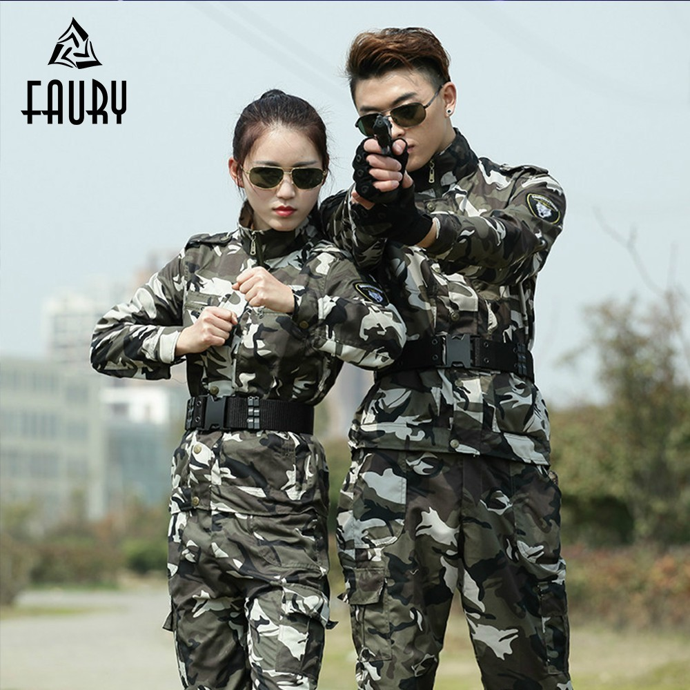 Military Uniform Women Tactical Combat Camouflage Army Cotton Uniform Tactico Jacket Cargo Pants Working CS Clothing Sets Female