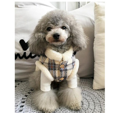 Купить с кэшбэком XXS-XXXL Soft Plaid Winter Clothing Warm Dog Clothes Overalls For Small Medium Dog Bichon Pug Shih Tzu Puppy Outfit Pet Products