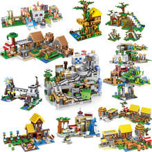 20 Styles Minecrafted Cave Citys Building Blocks Compatible with Major Brands Aminal Alex Action Figures Brick Toys For Children(China)