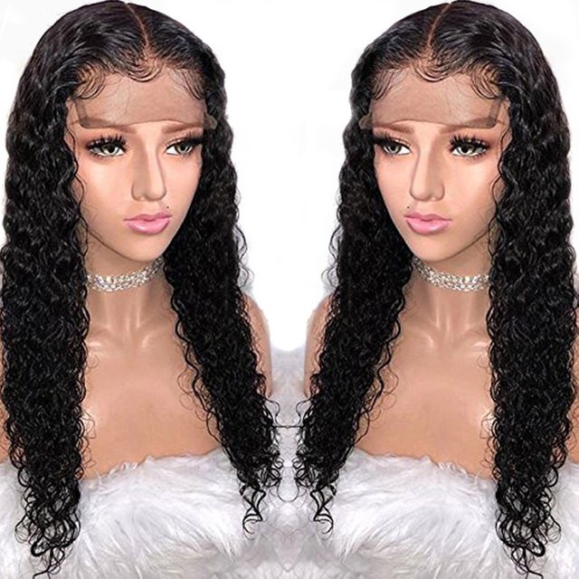 13X6 Deep Part Lace Front Human Hair Wigs Preplucked 360 Lace Frontal Closure  Wig For Black Women Water Wave Peruvian Remy Wig 7b5b65f1a5