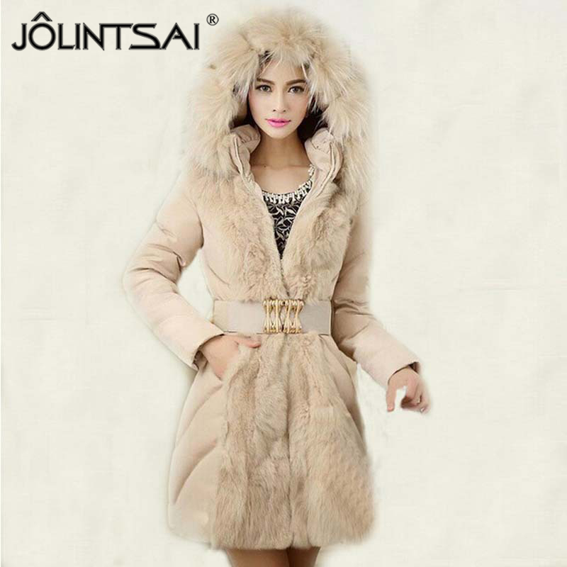 Hot Sale 2016 Winter Coat Women Fashionable Luxury Slim Jackets And Coats Long Parka Ladies Fur Collar Outerwear Ae Me 203 In Parkas From Womens Clothing
