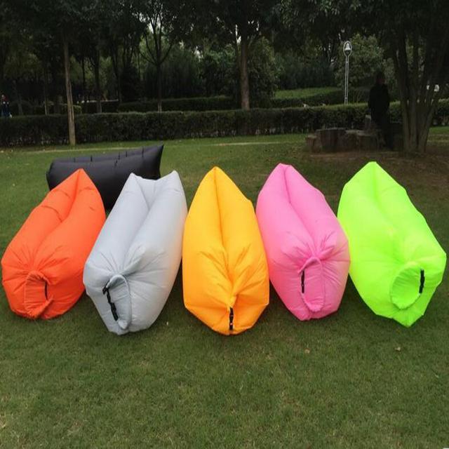 Dışarı Uyku Tulumu 240*70 cm Hava Yastıkları Tembel Kanepe Şişme Hava Çekyat Tembel Kemikler Plaj Salonu Katlanabilir Kamp Hızlı Uyku yatak
