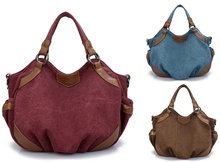 Women Canvas Handbag Hobo Bag Messsenger Bag Pure Color Shoulder Bag недорго, оригинальная цена