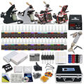 Tattoo Kit   professional  4 Machine guns 40  Inks  Needles grips tips Tattoo Power Supply  D139GD