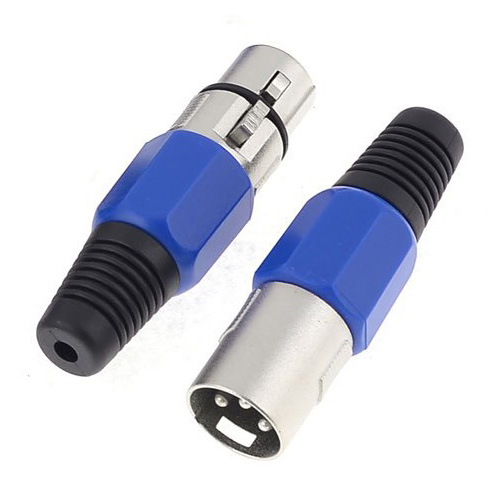 купить Good 5 Pair Metal Female/Male XLR 3-Pin Jack Socket Plug Audio Connector недорого