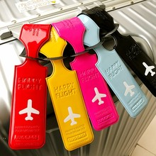 Travel PU Leather Luggage Tag Cover Creative Accessories Suitcase ID Address Holder Letter Baggage Boarding Tags Portable Label(China)