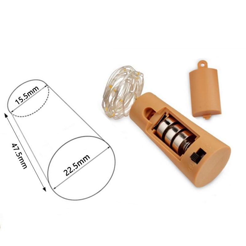 9Pcs Wine Bottle Cork String Lights 2M/20 LEDs Copper Wire For Halloween Christmas Party DIY Decor HVR88
