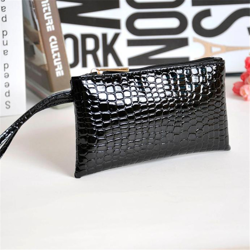 New Arrival Handbag Womens Crocodile PU Leather Clutch Handbag font b Bag b font Coin Purse