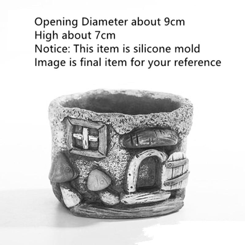 Fait à la main décoration béton Pot de fleur moule Silicone ciment planteur moule