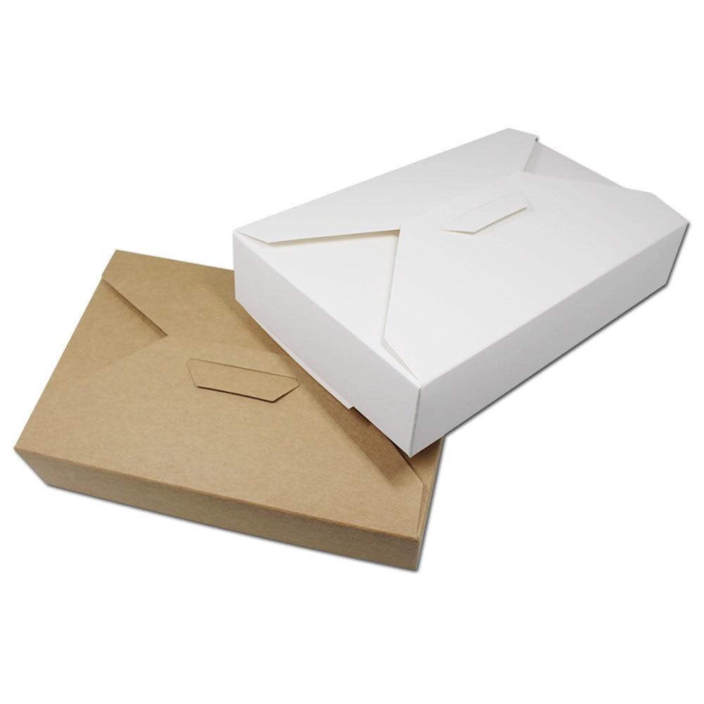 ≧100 unids/lote Kraft papel cartón Cajas de Regalo bufanda embalaje ...