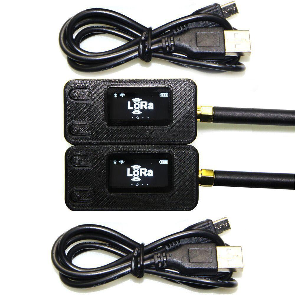 2 pcs TTGO 433/868 Mhz ESP32 LoRa OLED 0.96 pouce Bleu Affichage Bluetooth WIFI ESP-32 carte de développement de Module