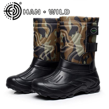 Quality Men Boots Waterproof Snow Boots Ultralight Men Fishing Boots Outdoor Skiing Boots Male Warm Plush Snow Shoes