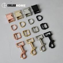 20 sets metal slider buckle 3/4 (20mm) dog clip hook d-ring adjustable clasp for bag pet collar straps DIY accessories 4 colors цена