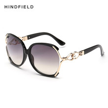 7214c9ad3df80 2018 Women Polarized Sunglasses Retro Big Round PC Frame Brand Design Black Sun  Glasses Luxury Ladies Driving gafas de sol mujer