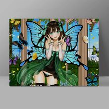 Most Lovely Elf Babe Wall Pictures Butterfly Girl Canvas Otaku Painting Office HD Print Home Decor