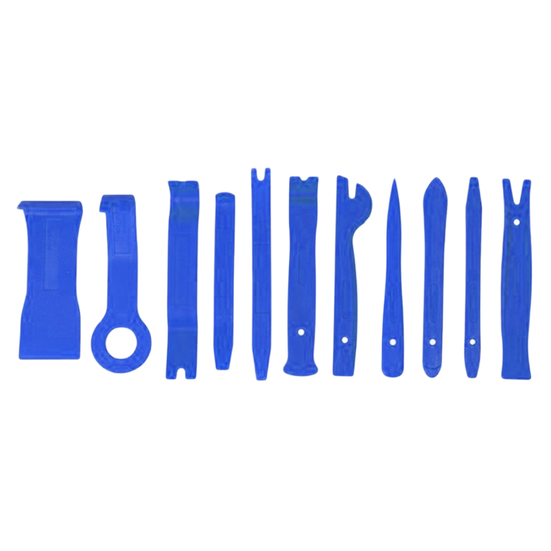 Купить с кэшбэком Auto Car DIY Car Pry Repair Tool Kit 11Pcs Radio Panel Interior Door Clip Panel Trim Dashboard Removal Opening Hand Tool Set