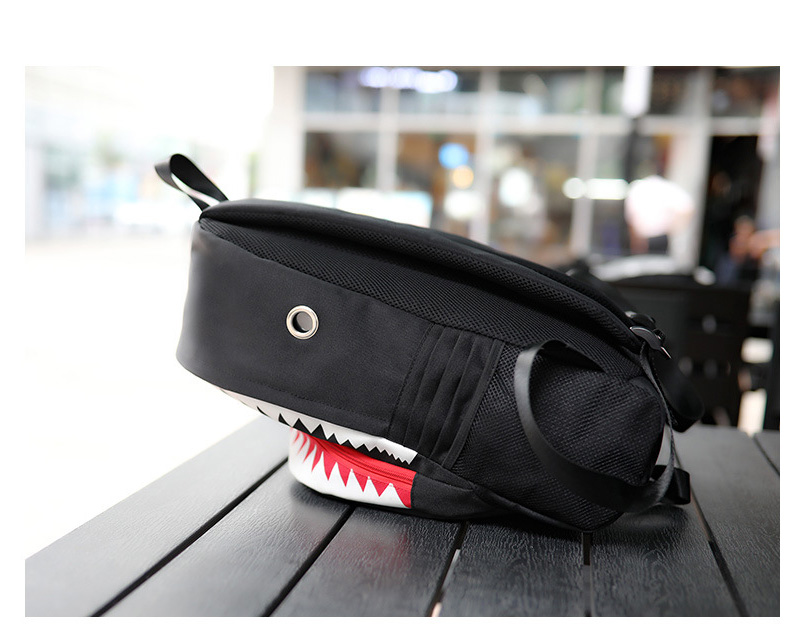 Usb Charging Fashion Luminous 3d Shark Backpack Night Glows Lighting Junior High School Bag Laptop Teenagers Travel Bag Mochila School Bags