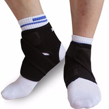Adult Ankle Braces Black Ankle Support Brace Ankle Pad for Football Climbing Sports 1pcs Adjustable Ankle Support Brace