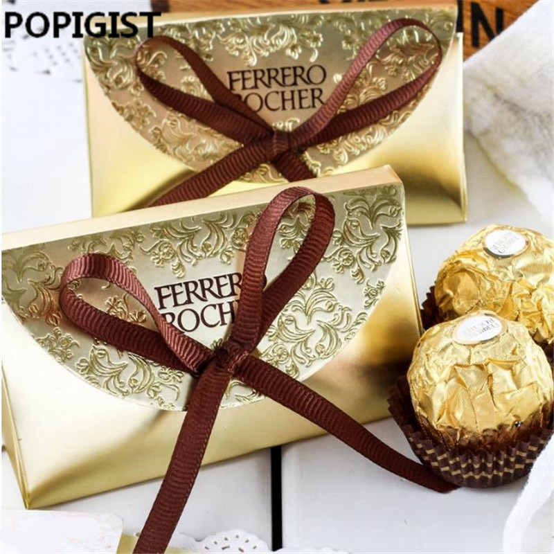 Us 5 39 38 Off Creative Wedding Favors Supplies Candy Boxes Party Baby Shower Gift Ferrero Rocher Chocolates Box Sweet Gifts Bags Supplies In Gift