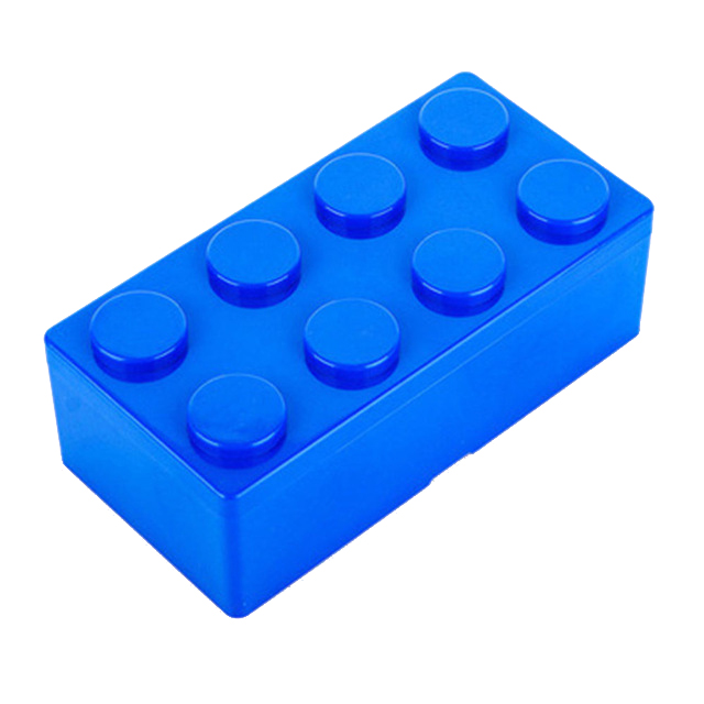 Best 1pc Building Block Shapes Saving Space Storage Box Superimposed Desktop Handy Office House Keeping Stationery (blue)L