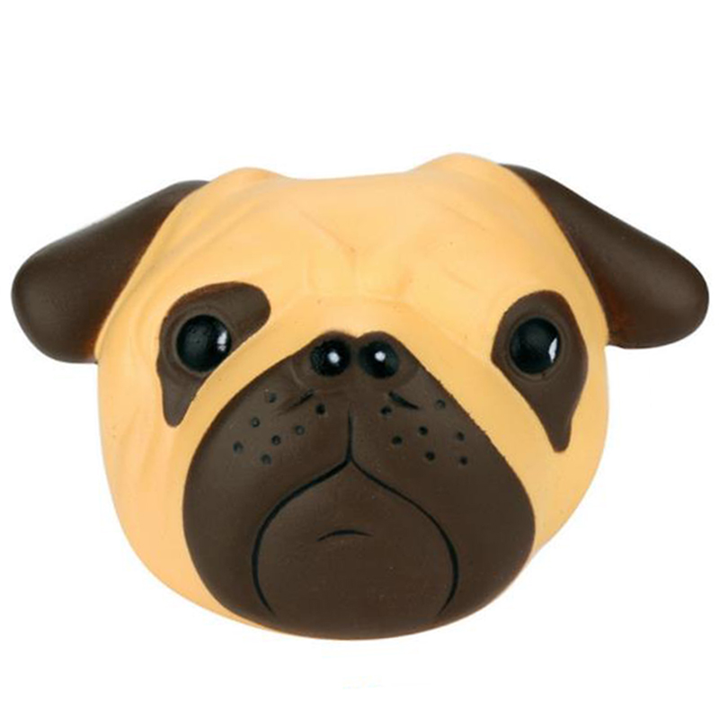 Jumbo Cute Dog Head Squishy Simulation Animal Slow Rising Soft Squeeze Toys PU Bread Cake Fun For Kid Birthday Gift 11*8CM