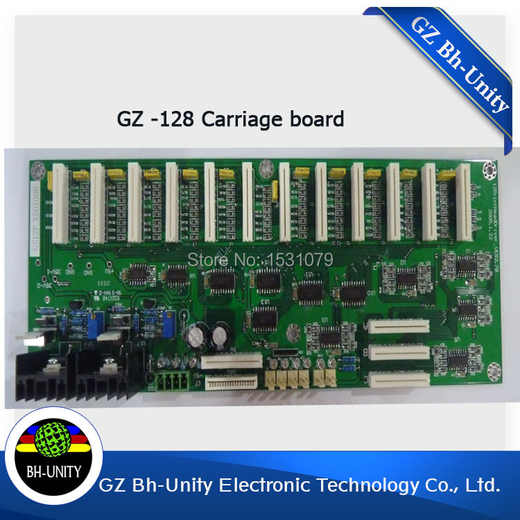For gongzheng solvent printer spare parts xaar 128 printhead carriage board brand new zhongye 12 heads printer xaar 128 head board carriage board eco solvent printer spare parts