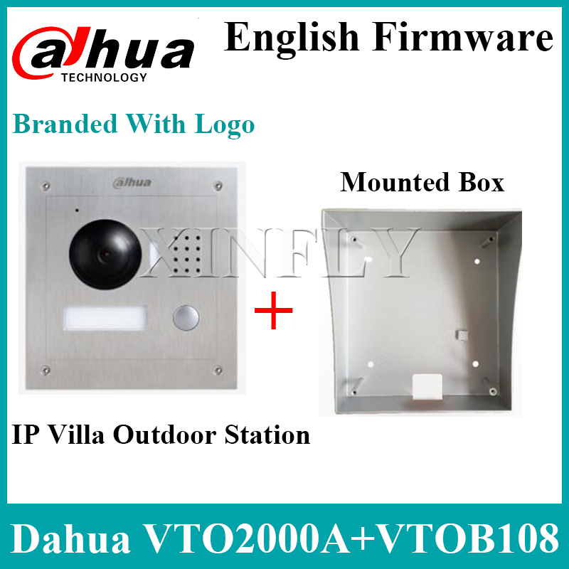 Dahua VTO2000A IP Villa Outdoor Station VTOB108 Surface Mounted Box For VTH1510CH VTH1550CH VTH1660CH Intercom Monitor With Logo