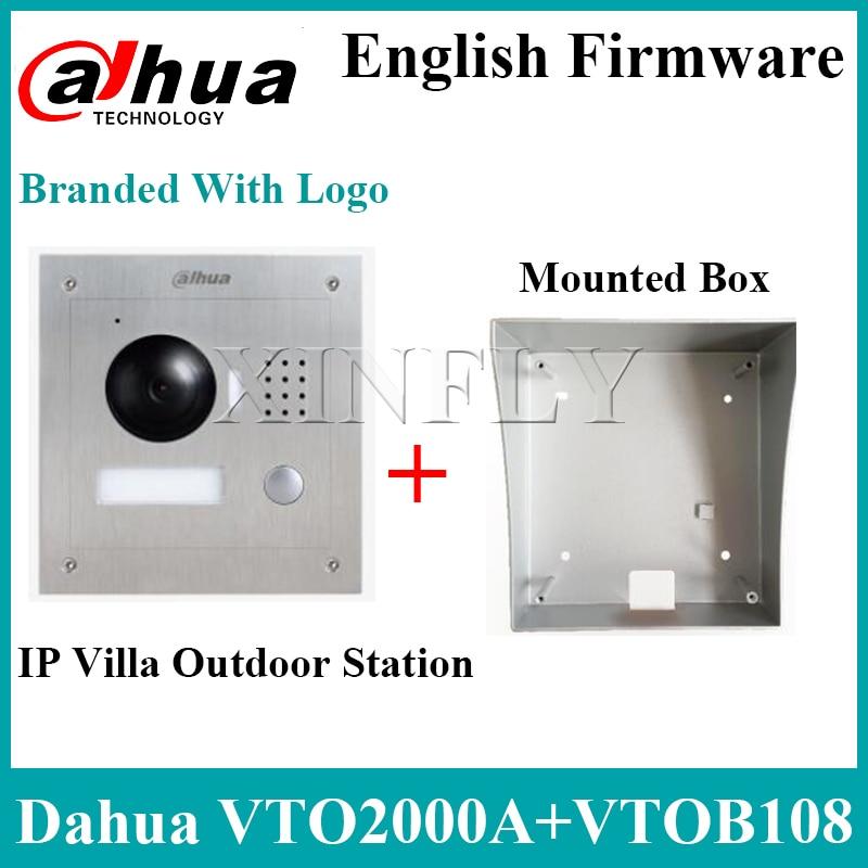 Dahua VTO2000A IP Villa Outdoor Station VTOB108 Surface Mounted Box For VTH1510CH VTH1550CH VTH1660CH Intercom Monitor With Logo