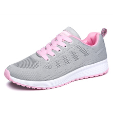 Fashion Women Sneakers Mesh Summer Autumn Shoes Women's Flats Shoes Lace Up Comfortable Female Sneakers