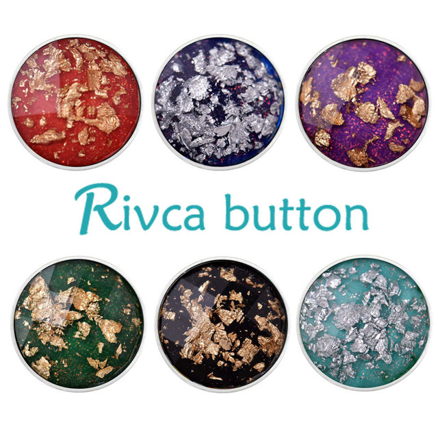 Rivca Snap  Jewelry High Quality Resin Items Styles DIY 18mm Charm Snap  Bracelet For Women Christmas Gift D03153
