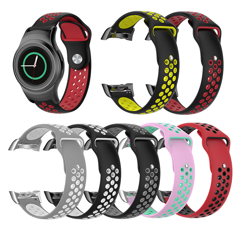 20mm Watch Strap Silicone For Samsung Gear S2 SM-R720 / SM-R730 Sports Watch Band with Adapter Good Quality Strap 20mm Watch Strap Silicone For Samsung Gear S2 SM-R720 / SM-R730 Sports Watch Band with Adapter Good Quality Strap