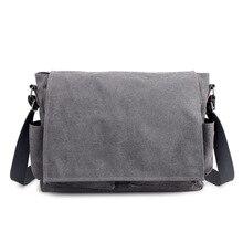 2019 Brand Designer Mens Briefcase Canvas Crossbody Bags for men 14 Inch Laptop Shoulder Bags Buisness Office Men Messenger Bag