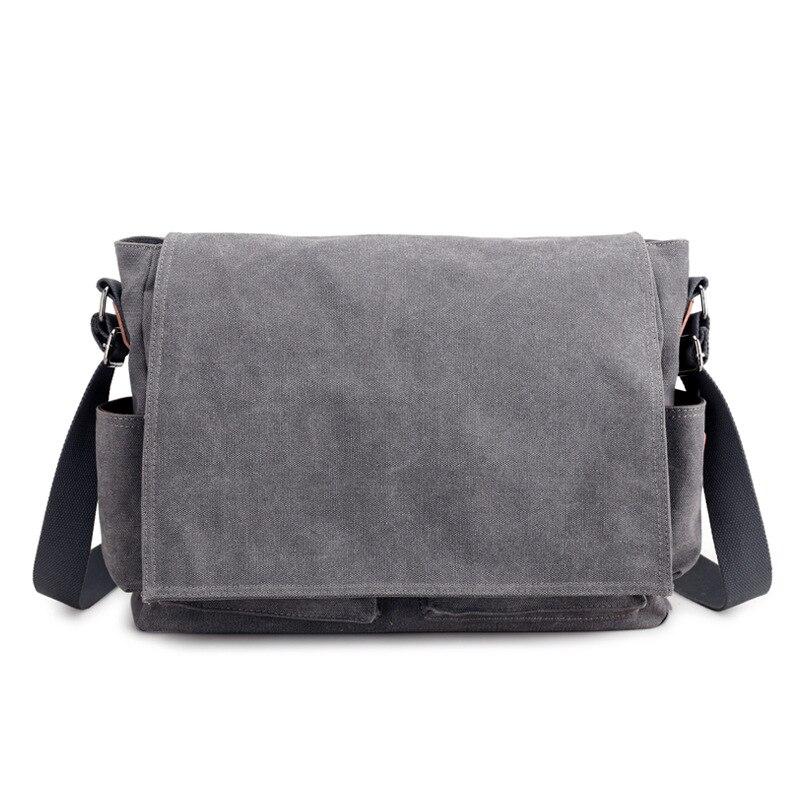 2019 брендовый дизайнерский мужской портфель, холщовые сумки через плечо для мужчин, 14 дюймов, сумки на плечо для ноутбука, удобная офисная мужская сумка мессенджер-in Портфели from Багаж и сумки