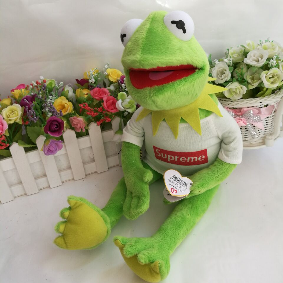 37cm Ty Toy Kermit the Frog Plush Toy The Muppet Show Sesame Street  Character With Clothes  Steel Wire Can Make Pose-in Stuffed   Plush Animals  from Toys ... 3c9d3c59013