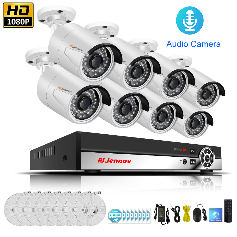 Hot Sale HD POE Home Wireless Security CCTV Camera System With NVR ...