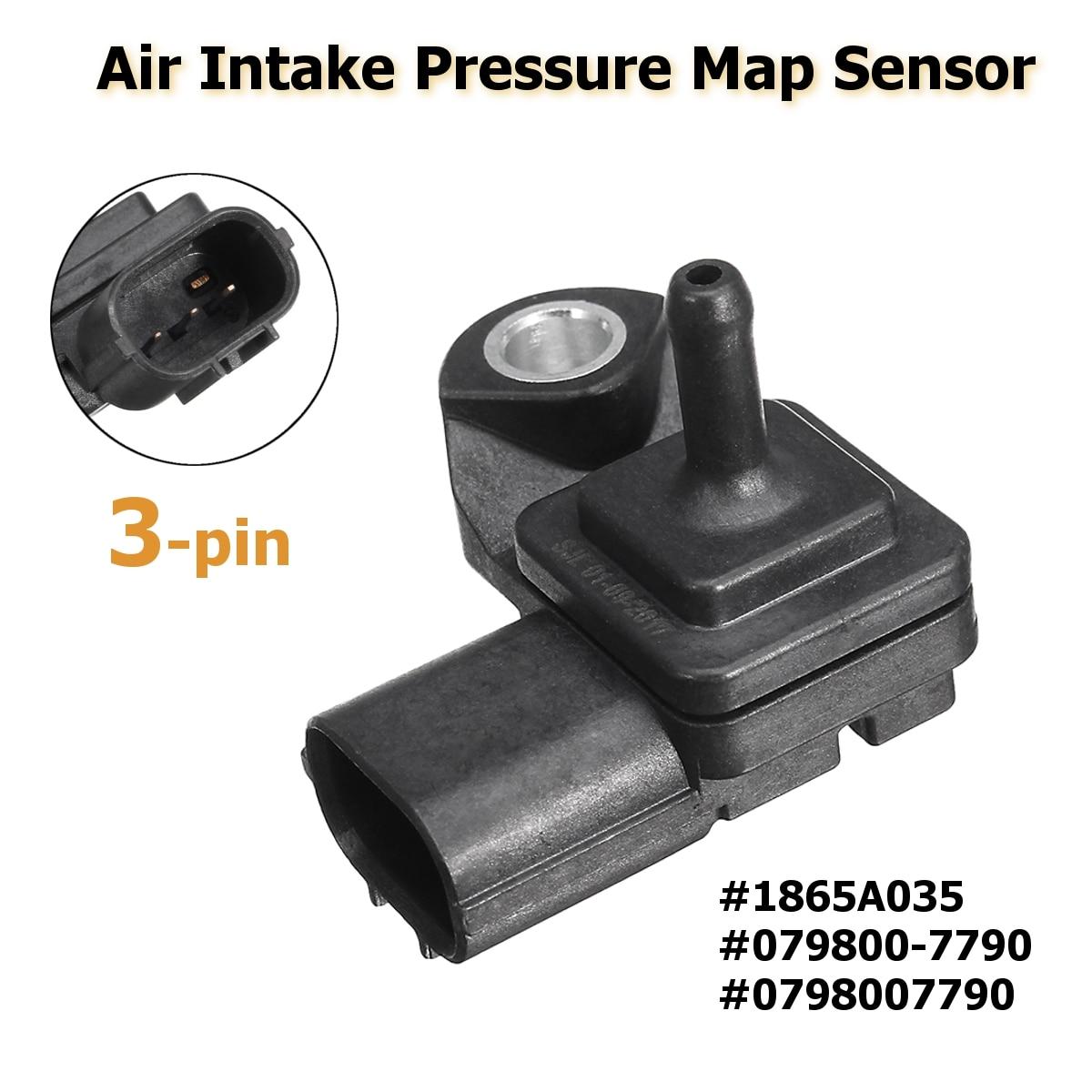 #1865A035 #0798007790 3 Pin Air Intake Boost Pressure Map Sensor For Mitsubishi/Pajero/Montero V88W V98W L200 free delivery intake pressure sensor 0261230011 genuine