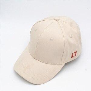 Image 1 - Kpop コンサート同じ綿キャップ LY 刺繍トップ品質弾性キャップファッションヒップポップ帽子