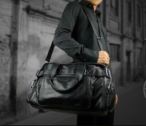 2015 Men'S Travel Bags soft PU Leather Luxury Style Men Messenger ...